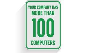 IT Support for companies with over 100 computers