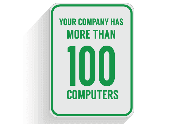 IT services and consulting over 100 computers